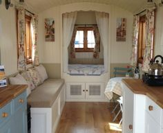 Gypsy Caravans and Roulottes for Sale Gypsy Caravan, Gypsy Wagon, Tiny Spaces, Small Rooms, Tiny House Living, Small Living, Caravans For Sale, Cool Tents, Shepherds Hut