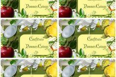 Etiquettes confiture ~Pommes Coings~