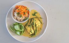 Coconut Fish Curry [Week - Bits Of Carey Fish Curry, Thai Red Curry, Coconut Fish, Brown Lentils, Good Sources Of Protein, Zucchini, Recipies, Seeds, Appetizers