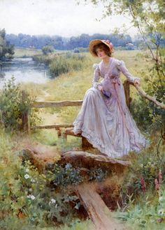 "monsieurleprince: "" William Affleck (1869 - 1943) - Where Woodbines hang their dewy heads """