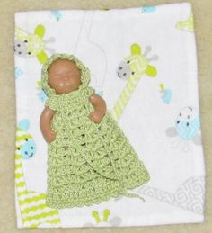 2-5-OOAK-Polymer-Clay-Baby-Crochet-Gown-Set-92