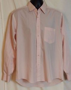 Versace Classic Men's Pink and white checked Button front 100% Cotton   Sz 16.5 #Versace