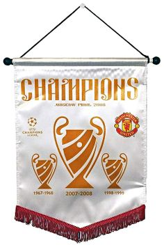 Manchester United Large Champions League Pennant Moscow 2008