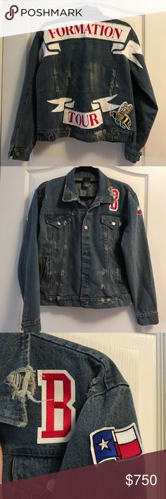 Formation World Tour Beyonce Patch Denim Jacket New Authentic Formation World Tour Beyonce Patch Denim Jacket 2016 Beehive This jacket was purchased by me at the last Formation Show in East Rutherford,NJ on OCT 7 2016 Brand new without tags.. Tags are not attached to the merchandise when you purchase them at the show  This jacket was only sold at the Formation tour so you had to see the show in order to get the jacket I also have proof of purchase  Now that the tour has ended this will…