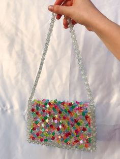 Beaded Clutch, Beaded Purses, Beaded Bags, Beaded Jewelry, Faux Fur Accessories, Fashion Accessories, Diy Fashion, Fashion Bags, Fairy Clothes