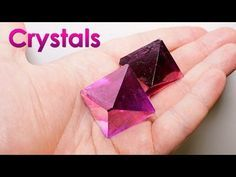 Grow Purple Single Crystals of Salt at Home! DIY Home Decorations! Creative Decorating Ideas On A Budget. 53097922 Budget Ways To Decorate Your Home. Ideas For Affordable Home Decor Borax Crystals, Diy Crystals, Large Crystals, Alum Crystals, Diy Crystal Growing, Growing Crystals, Crystal Making, Grow Your Own Crystals, How To Make Crystals