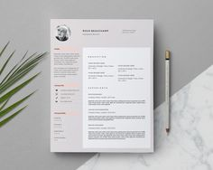 Professional Resume Template for MS Word / Minimal Resume Design & FREE Cover Letter by This Paper Fox Cover Letter For Resume, Cover Letter Template, Cv Template, Letter Templates, Cv Design, Resume Design, Boutique Design, A Boutique, Microsoft Word 2010