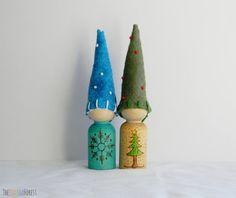 Waldorf Inspired Winter Gnomes (set of 2)