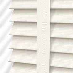 Cottage Cream & Canvas Faux Wood Blind - 50mm Slat