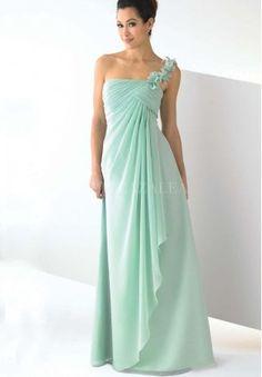 bridesmaid dress, long mint dress
