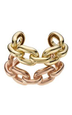 Jennifer Fisher gold chain cuffs.