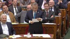 Orbán elszólása a Parlamentben
