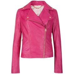 b5d3c8fb9 Ted Baker Ippal Leather Biker Jacket in Pink (Fuchsia)
