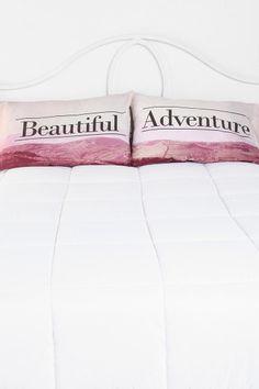 Beautiful Adventure Pillowcase - Set Of 2 #urbanoutfitters