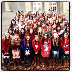 Happy holidays from Alpha Phi. How cute would this be to do and send to the other chapters for Christmas.