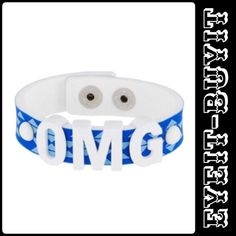 "BCBGeneration OMG Affirmation Bracelet EYE-IT...BUY-IT 🤗 AWESOME SAUCE🤗  📌Color: White 📌Sliding letters 📌White lettering detail (OMG) 📌Snap closure 📌Approx. meas. 8 1/4"" (end-to-end) 🚫No TRADES 🎁Free gift w/purchase 💰Flexible BCBGeneration Jewelry Bracelets"