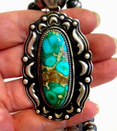 Nothing gets much prettier than this rock...Incredible Royston Turquoise Navajo Pendant [33218] - $725.00 : Skystone Trading!, Trusted online source for high-grade, natural turquoise jewelry for over 12 years.