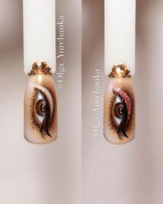 1 или 2 ? #глаза #ручнаяросписьнаногтях #рисунокнаногтях #рисунокакриловойкраской #топмастера #красивыйглаз #ольгаюрченко #рисуюсудовольствием #топмастеров