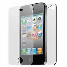 Front and Back Reusable Screen Protector for Apple iPhone 4 (3 pack) $1.02