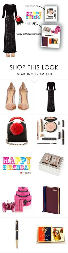 """Happy birthday sharmarie 💖by love ❤️"" by hanin-elsamad ❤ liked on Polyvore featuring Gianvito Rossi, Adrianna Papell, Les Petits Joueurs, FOSSIL, Viktor & Rolf, Aspinal of London, Parker and Yardley London"