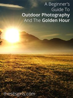 Learn how to capture beautiful pictures during the golden hour. Click through for great examples.   Golden Hour Photography Tips   Outdoor Photography Tips