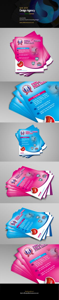 Water polo flyer Template. it's our agency work for usa water polo school.