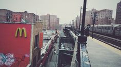 A station in The Bronx near a MacDonald #nyc #vsco #winter
