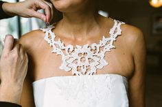 lace detail wedding gown | Kate McDonald