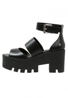 Windsor Smith PUFFY - Sandały na platformie - black