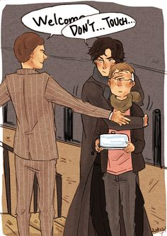 Protective Sherlock <3 I don't ship them (go Molly!!!) but this is cute