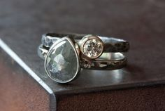 natural rose cut diamond ring #engagement #alexisrusselljewelry