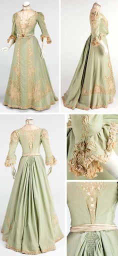 Promenade dress, American, ca. 1903. Wool and silk. Metropolitan Museum of Art
