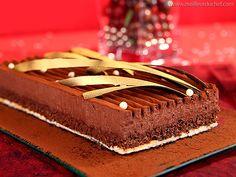 Trianon au chocolat - Meilleur du Chef (Biscuit Joconde, croustillant praliné, mousse au chocolat)