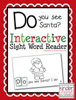 """""""Do you see Santa?"""" interactive practice for sight words, only $1.00"""