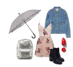 """Summer/raining"" by hola-olya on Polyvore featuring мода, Henri Bendel, Lipsy, Zara, NARS Cosmetics и Pantone"