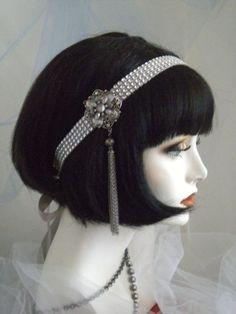 1920's Headpiece Flapper Headband Gatsby by elisevictoriadesigns, $39.50