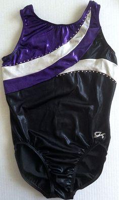 GK Elite Metallic Rhinestone Leotard Gymnastics Dance Ballet Womens Teen Size XL #GKElite