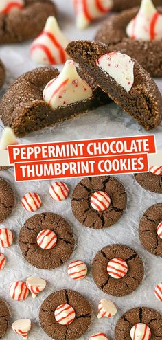 These Peppermint Chocolate Thumbprint Cookies are soft, chewy Christmas chocolate cookies topped with peppermint Hershey kisses – one of my favorite little holiday candies! They are delicious and will make you the hit of your holiday cookie exchange! Holiday Cakes, Christmas Desserts, Christmas Treats, Christmas Parties, Christmas Time, Winter Parties, Chocolate Thumbprint Cookies, Chocolate Cookies, Homemade Chocolate