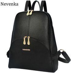 ebf1c29c65b5 Backpacks Nevenka Brand Women Bag Preppy Backpack Leather Student Zipper  Bags Solid Pendants Preppy Sac Casual Backpacks Teenagers Mochila -- Click  the ...