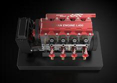 TOYAN FS-L400 14cc Inline 4 Cylinder Four-stroke Water-cooled Nitro En - EngineDIY Nitro Engine, Gasoline Engine, Gear Pump, Gift Box Packaging, Rc Model, Inline, Rc Cars, Airplane, Engineering