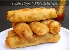 Chicken Cigars / Mini Chicken Rolls | You Too Can Cook - Indian Food Recipes