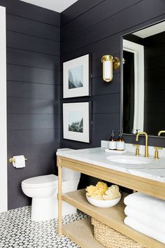 FLAT PAINT FOR BATHROOM - A few paint companies like Benjamin Moore and Dunn Edwards all have flat paint that is still wipeable so you can get a high-end look that's still family friendly