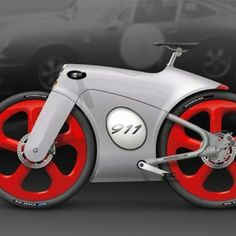 The classic lines of the Porsche 911 have influenced Dutch designer Bastiaan Kok to create the 'Porsche Bicycle'. Porsche 911, Scooter Moto, Motorcycle Bike, Velo Design, Bicycle Design, Velo Retro, Bike Style, Cool Bicycles, Vintage Bicycles