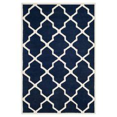 Teppich Carbone - Dunkelblau/Creme - 122 x 183 cm, Safavieh Jetzt bestellen unter: http://www.woonio.de/produkt/teppich-carbone-dunkelblaucreme-122-x-183-cm-safavieh/