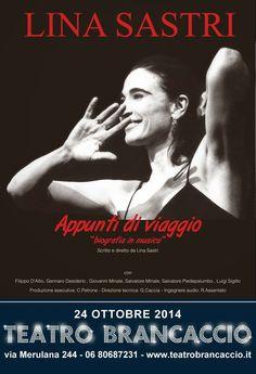 """TG Musical e Teatro in Italia: Al Teatro Brancaccio arriva Lina Sastri con """"Appun..."""
