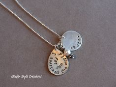 Hand Stamped adoption necklace by sassy2225 on Etsy, $55.00
