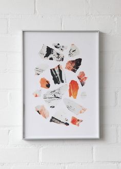 This unusual art print is called 'Frag.02' and was created by Richard Grainger. This is a limited edition print, signed and numbered as one of 100.