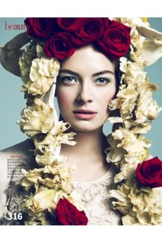 this garland slash bonnet on julia dunstall in this month's vogue taiwan.