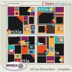 All Year {November} - Templates