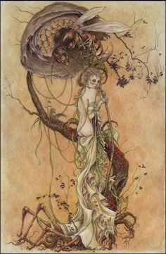 Purity Breathes a Slow Poison ~ Jeremy Hush (ballpoint pen and watercolour)